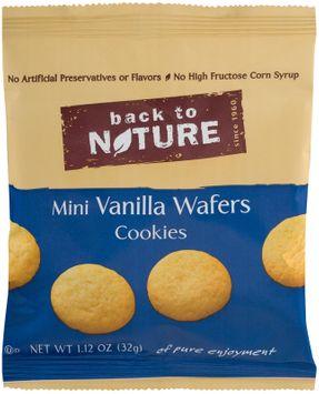 Back To Nature Mini Vanilla Wafer Cookie, 0.12 oz, 6 ct, 2 pk