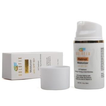 Retinol Moisturizer with SPF 50 is a All in One Cream. Sun Protection with Natural Ingredients to Help Reduces Appearance of Fine Lines, 50 ml. Best Choice