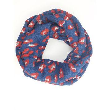 Amtal Women Two Colors Leopard Safari Design Soft Knit Winter Infinity Scarf