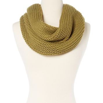 Amtal Women Solid Color Winter Knit Crochet Infinity Soft Lightweight Scarf