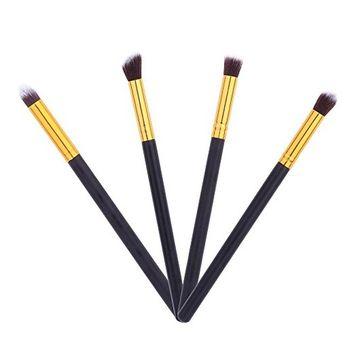 Professional 4pcs Eye Brushes Set Eyeshadow Blending Pencil Brush Make up Tool Cosmetic Makeup Eyeshadow Lip Eye Blush Foundation Power Brush Set Cosmetic Tool Kit