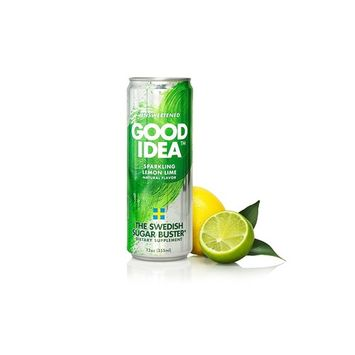 Good Idea Sparkling Lemon Lime Water, 4 count, Helps Balance Your Blood Sugar After A Meal, All Natural, Sugar Free and Unsweetened – The Swedish Sugar Buster [Lemon Lime]
