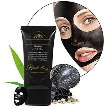 Blackhead Acne Remover,Molie Purifying Peel Deep Cleaning Black Mud Face Smoother Nose Facial Mask