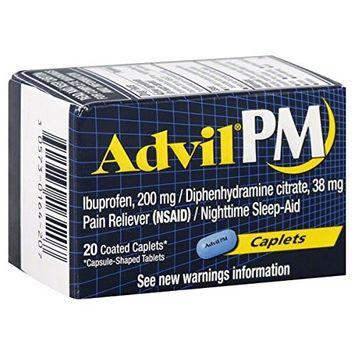 3 Pack Advil PM 200 mg Coated Caplets - 20 Caplets