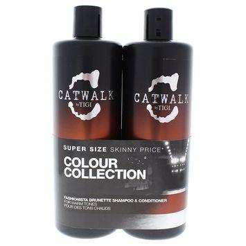 TIGI Catwalk Fashionista Brunette Duo Shampoo & Conditioner for Unisex, 25.36 Ounce