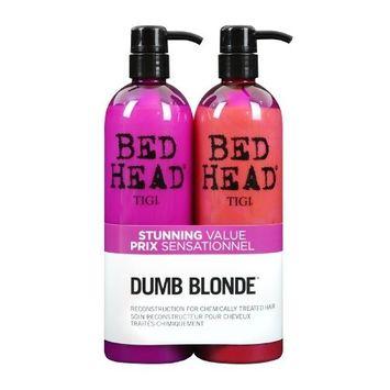 TIGI Bed Head Hair Care Dumb Blonde Tween Set: 750ml Shampoo & 750ml Reconstructor 750ml by TIGI
