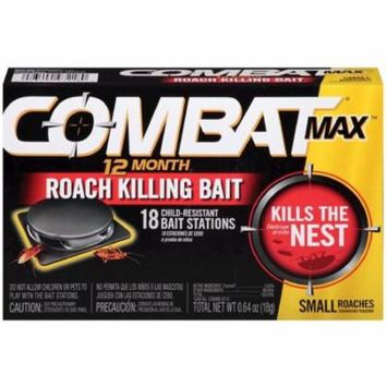 Combat Max 12 Months Roach Killing Bait 18 ea (Pack of 2)