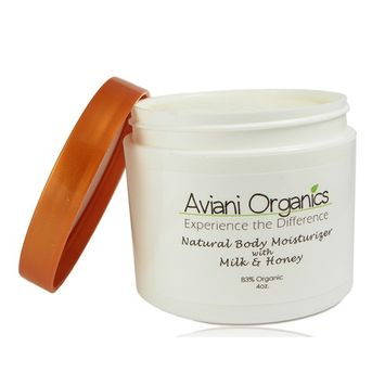 Aviani Organics Natural and 83% Organic Premium Body Lotion and Cream, pH Balanced for Sensitive or Dry Skin-Moisturizes, Organic Skin Care for Women