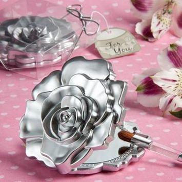 40 Realistic Rose Design Mirror Compacts