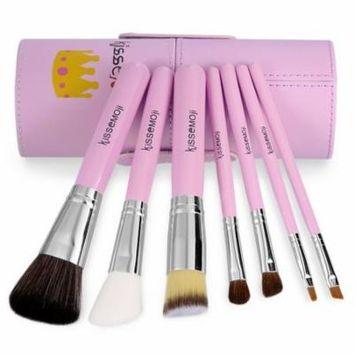 7pcs Travel MakeUp Cosmetic Set Eyeshadow Foundation Brush blusher Tools & Cylindrical Case OCTAP