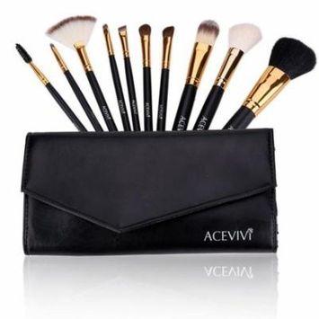 Clearance Professional 10pcs Soft Cosmetic Tool Makeup Brush Set Kit OCTAP