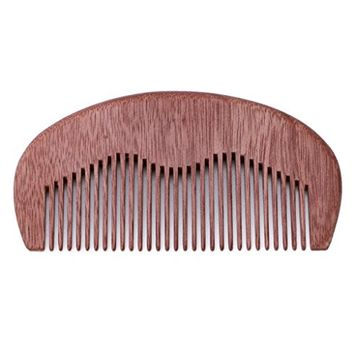 EA-STONE Wood Fine Tooth Conditioning Hair Comb Brush , Pocket Size Anti-static Spa Massage Salon Health Care (3#)