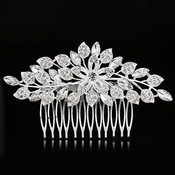 Urberry Vintage Wedding Hair Accessories for Brides Crystal Simulated Pearl Bridal Hair Comb Women