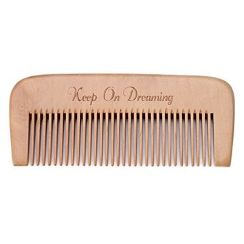 EA-STONE EA-STONE Natural Peach Wood Conditioning Hair Comb Brush , Fine Teeth Handle Hairdressing Anti-static Spa Massage Salon Health Care (4#)