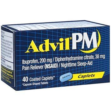 6 Pack - Advil PM 200 mg Coated Caplets 40 Caplets Each