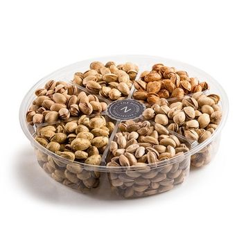 The Nuttery Assorted Pistachios Gift Tray ~ Turkish, Jalapeno, Onion Garlic, Salt & Pepper, Chile, Roasted & Salted