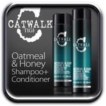 Tigi Catwalk Oatmeal & Honey Shampoo and Conditoner Duo, 25.36 oz / 750ml Each