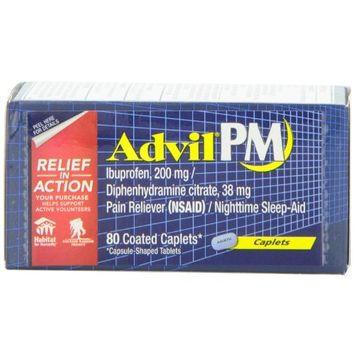 ADVIL PM IBUPROFEN 200mg NIGHTTIME SLEEP-AID PAIN RELIEVER 80 COUNT