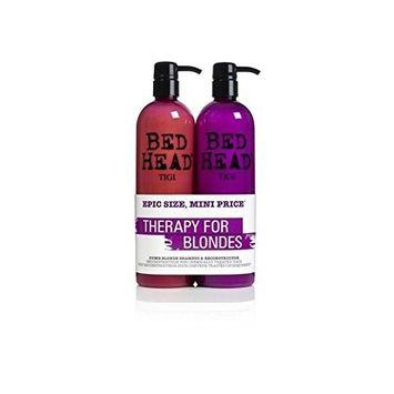Tigi Bed Head Dumb Blonde Tween Duo (2X750ml) (Pack of 4)