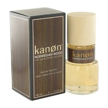 Kanon Norwegian Wood by Kanon Men's Eau De Toilette Spray 3.3 oz - 100% Authentic