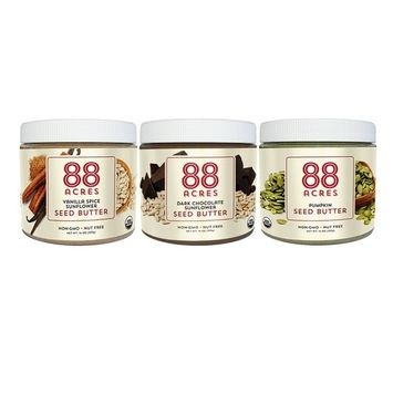 88 Acres, Seed Butter Trio Gift Set, 14 oz, 3-Pack