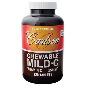 Carlson Laboratories Mild-C Chewable - 120 Chewable Tablets - Vitamin C Complex