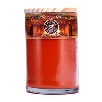 HOLIDAY CHEER SOY CANDLE 12 OZ TUMBLER. A FESTIVE BLEND OF SPRUCE, CLOVE, ORANGE & PEPPERMINT. BURNS APPROX. 30+ HOURS for UNISEX