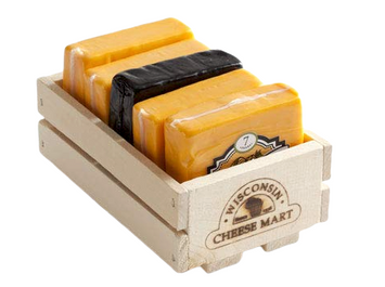 Wisconsin Cheese Mart Cheddar Flight Gift Crate