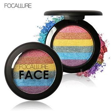 Start Rainbow Shimmer Color Highlight Powder Eyeshadow Blush Face Makeup Palette (2#)