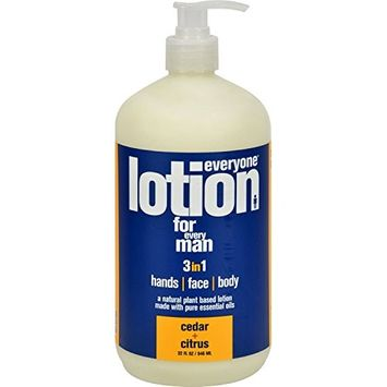 EO Products Everyone Lotion - Men Cedar and Citrus - 32 oz - EO Products