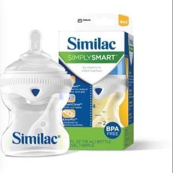 3 Similac Simply Smart Bottles 4oz. Slow Flow Nipple. BPA free.