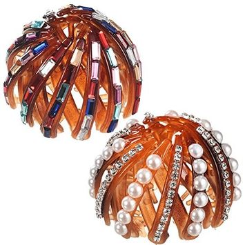 MISM Women Hair Bud Clips Pearl Hair Decor Styling Accessory