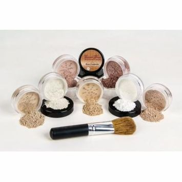 $40 SPECIAL Mineral Makeup Foundation Brush Full Size Set Sheer Bare Skin Cover Kit (Cocoa & Ebony)