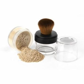 Sweet Face Minerals KABUKI BRUSH & FOUNDATION Kit Mineral Makeup Set Bare Skin Sheer Powder Cover (Light)