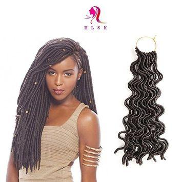 HLSK 6Packs/Lot 20'' Deep Wavy Crochet Braids Synthetic Braiding Hair Soft Curly Faux Locs Crochet Hair Havana Mambo Twist Kanekalon Hair Extensions Braids Color #4