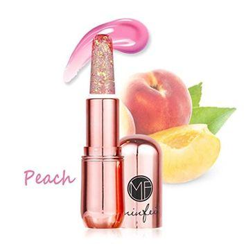 Hunputa Lipstick,Professional New Beauty Bright Crystal Jelly Lipstick Magic Temperature Change Color Lip