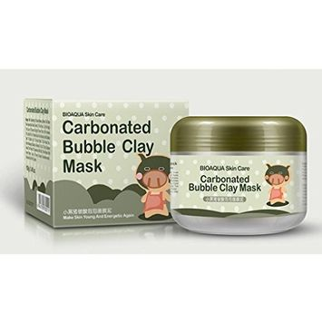 Hunputa Carbonated Bubble Clay Mask Bubbles Mud Mask Moisturize Deep Cleansing Face Mask
