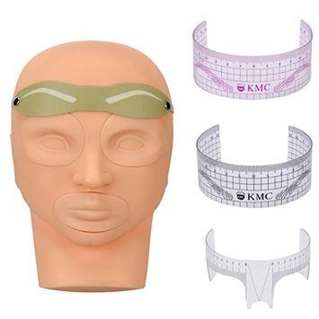 DZT1968 Practice Skin Model Head Tattoo Card Ruler For Permanent Makeup Eyebrow Set