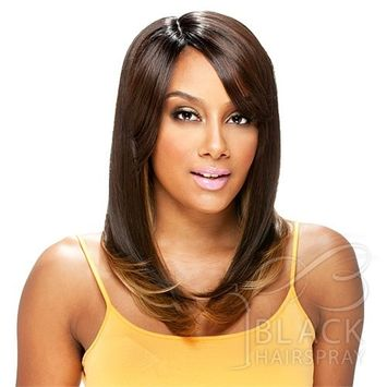 TE [#1B Off Black] - Model Model Deep Invisible Part Synthetic Hair Wig