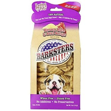Loving Pets Barksters Brown Rice and Beef Krisps, Dog Treat, 5-Ounce