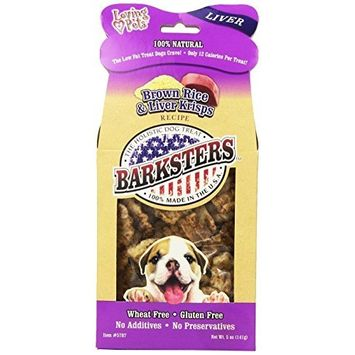 Loving Pets Barksters Brown Rice and Liver Krisps, Dog Treat, 5-Ounce
