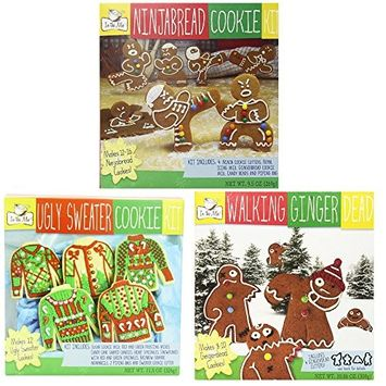 Holiday Cooking Kits Ugly Sweater, Ninjabread, Walking Ginngerdead, Pack of 3 Cookie Kits