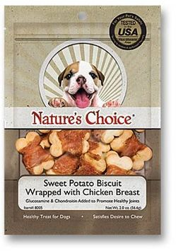 Loving Pets Nature's Choice Sweet Potato Biscuit Wrapped w/ Chicken 2oz