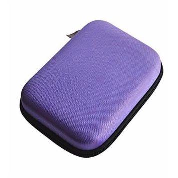 10 Bottles EVA Essential Oil Case Holds with four Colors (purple) (purple)