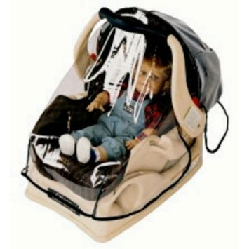 Sashas Wrap Around Rain and Wind Cover for Infant Carrier/Car Seat