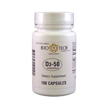Bio-Tech D3-50 50,000 Iu 100 Caps