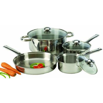 Cook Pro 4 Piece Stainless Steel Cookware Set