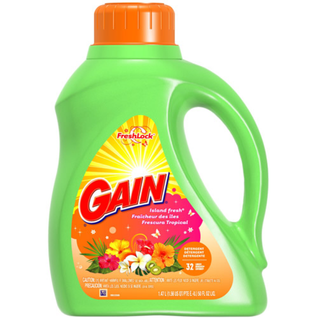 Gain Liquid Detergent with Oxi Booster