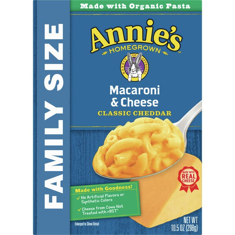 Annie's Family Size Macaroni and Cheese, Classic Mild Cheddar, 10.5 oz. Box