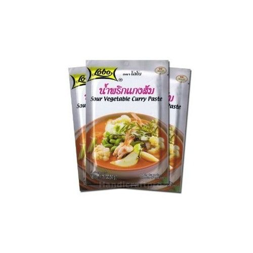 Lobo Sour Vegetable Curry Paste 1.76 Oz (Pack of 3)